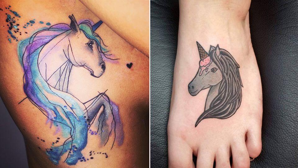 15 magische einhorn tattoos mtv germany. Black Bedroom Furniture Sets. Home Design Ideas