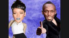 Rihanna met un rateau à Usain Bolt
