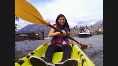 Une course en kayak