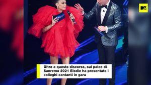 Sanremo 2021: Marracash è orgoglioso della sua Elodie, mentre lei lo cita sul palco