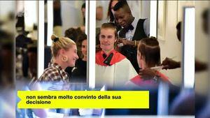 Justin Bieber ha appena tagliato la sua lunga criniera di capelli