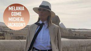 Polemica per il look di Melania Trump in Egitto