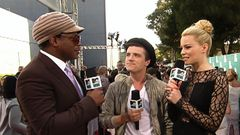 Sway Checks In With 'Hunger Games' Stars Josh Hutcherson And Elizabeth Banks