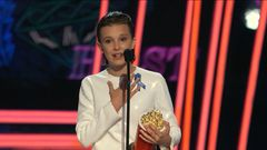 Millie Bobby Brown Accepts the Award for Best Actor in a Show