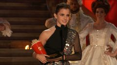 Emma Watson Accepts the Award for Best Actor in a Movie