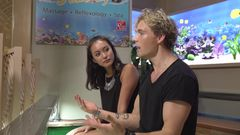 Christopher and Hanli Interview In A Fish Spa?