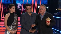 The Stars of 'Beauty and the Beast' Accept The Award For Movie of the Year